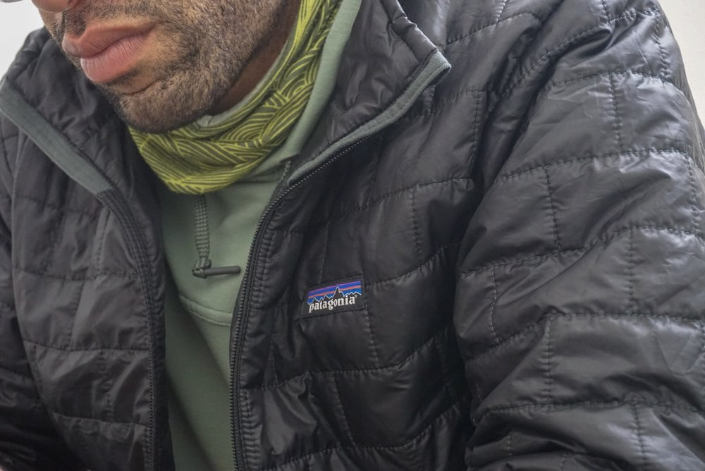 Patagonia logo.  Photo courtesy of Adam Edwards