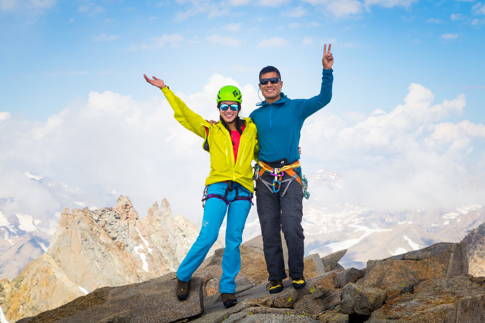 My dear climbing partner and friend, Derek Tse, and me on the summit block of Mt. Sill (14,159'). This was one of the most meaningful trips I've taken so far.  Photo credit:    Derek Tse   .
