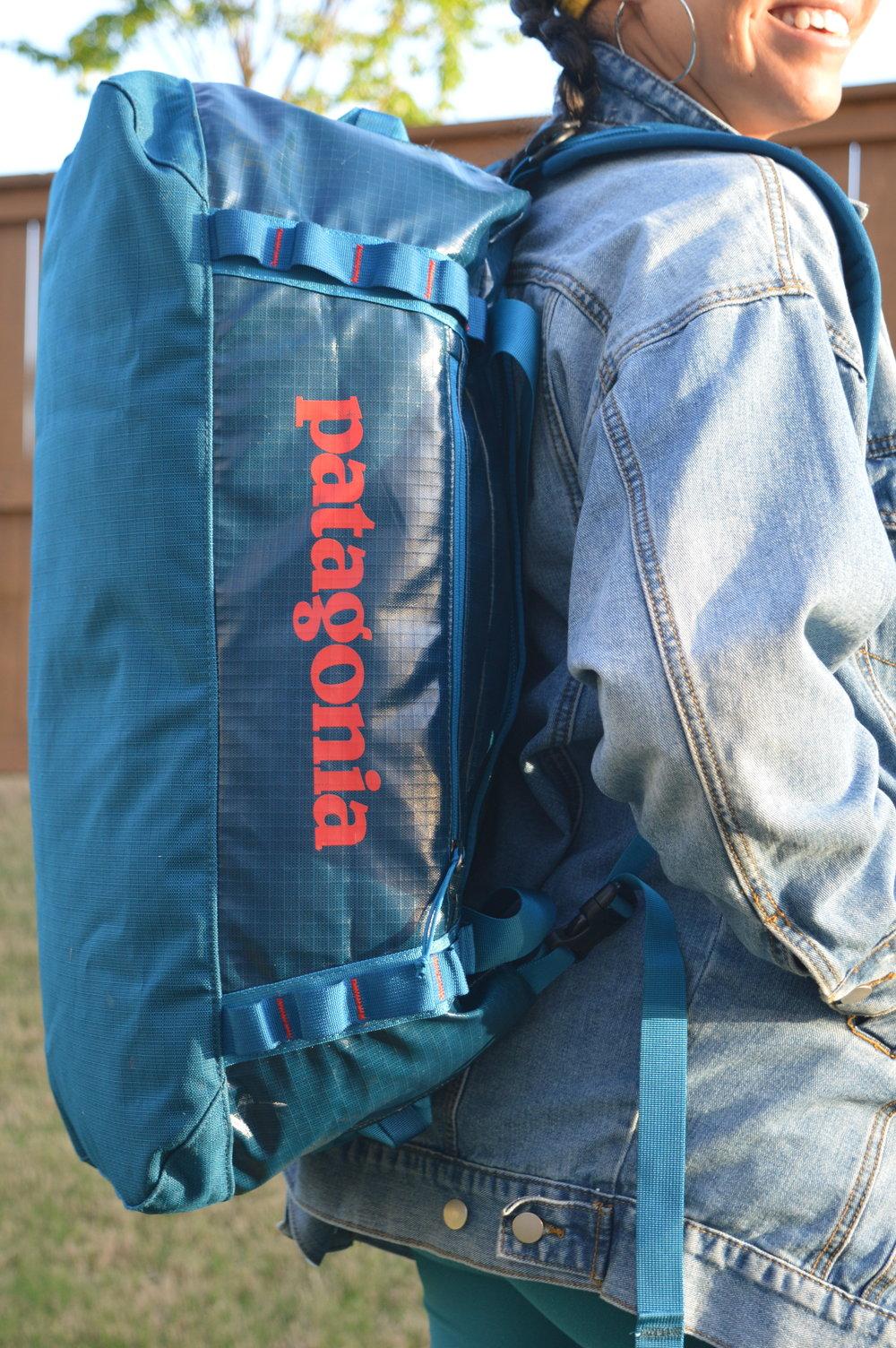 5b1f77307488b6 Patagonia Black Hole® Duffel Bag Gear Review — Melanin Base Camp