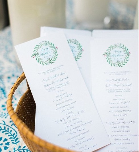 EVERLAND STUDIO CUSTOM CEREMONY PROGRAMS