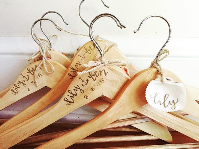 Hang on, it's almost Friday!  #tbt #lily⚓️ben • • • • • #moderncalligraphy #weddingcalligraphy #bridesmaids #mainewedding #flashback #accessories #calligraphy
