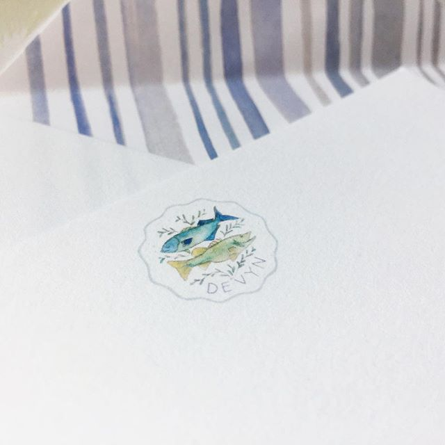 Inspired by a Bahamian coin, and cape cod fish 🇧🇸🐟 #customstationery #customletterhead