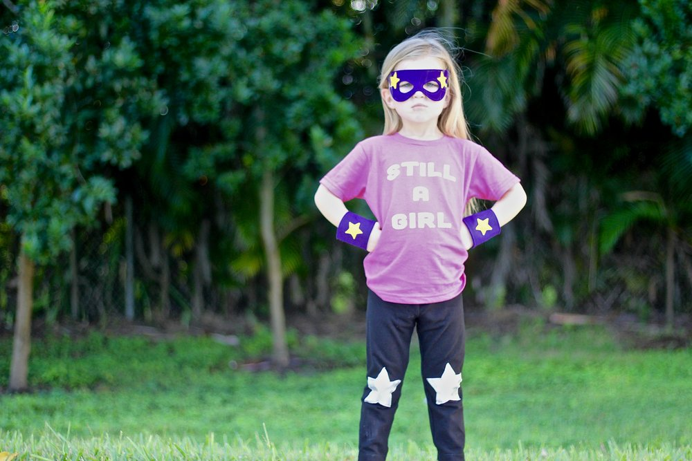 Super Hero Set  c/o  A is for Alice .  Leggings  c/o  The Trendy Tot .  Shirt  c/o  Quirkie Kids