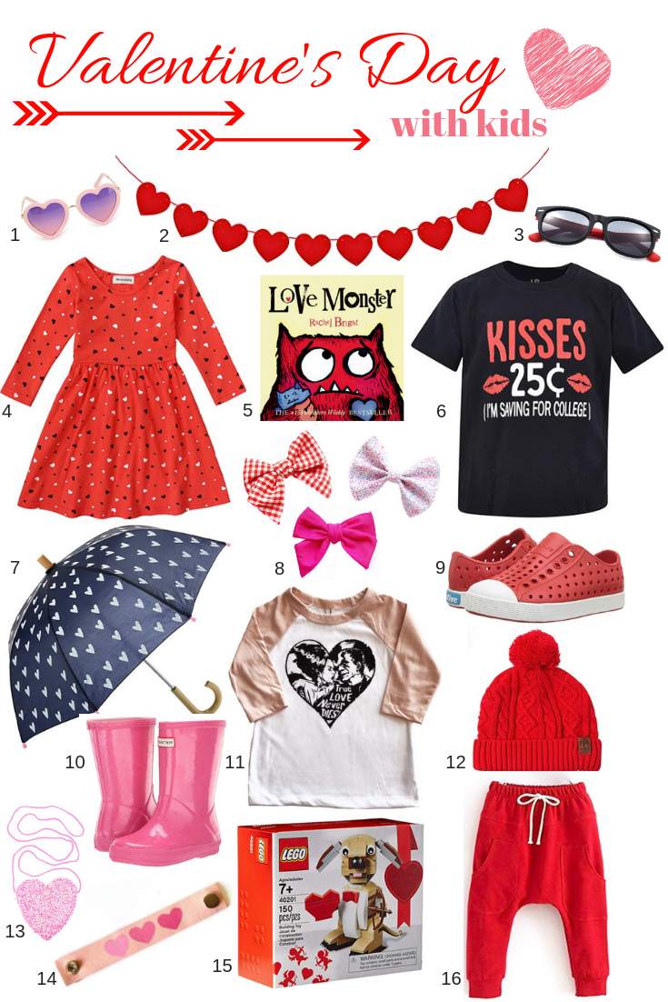 Valentine's Day gifts, apparel, accessories and more for girls and boys. This post may contain affiliate links. Please see my full  disclosure policy  for details.