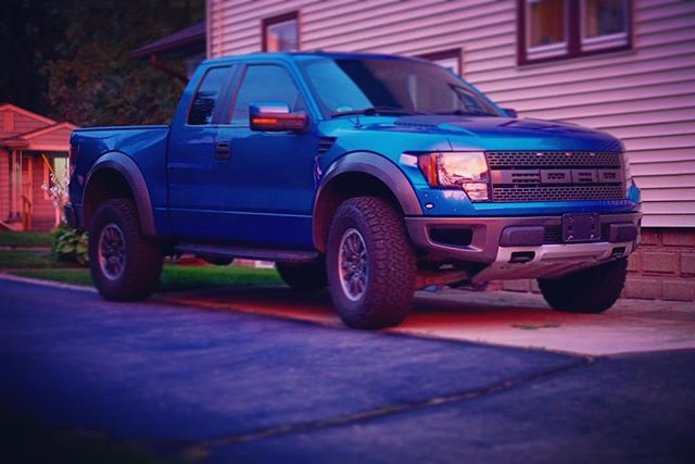 The Raptor is looking good in the sunset! #ford #svtraptor #f150 #trucks