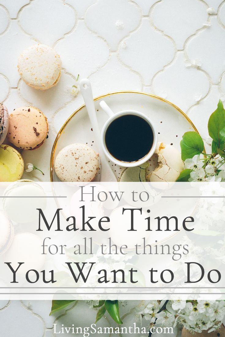 How to make the time to do all the things you want to do. Schedule your life and learn to be as productive and efficient as possible.