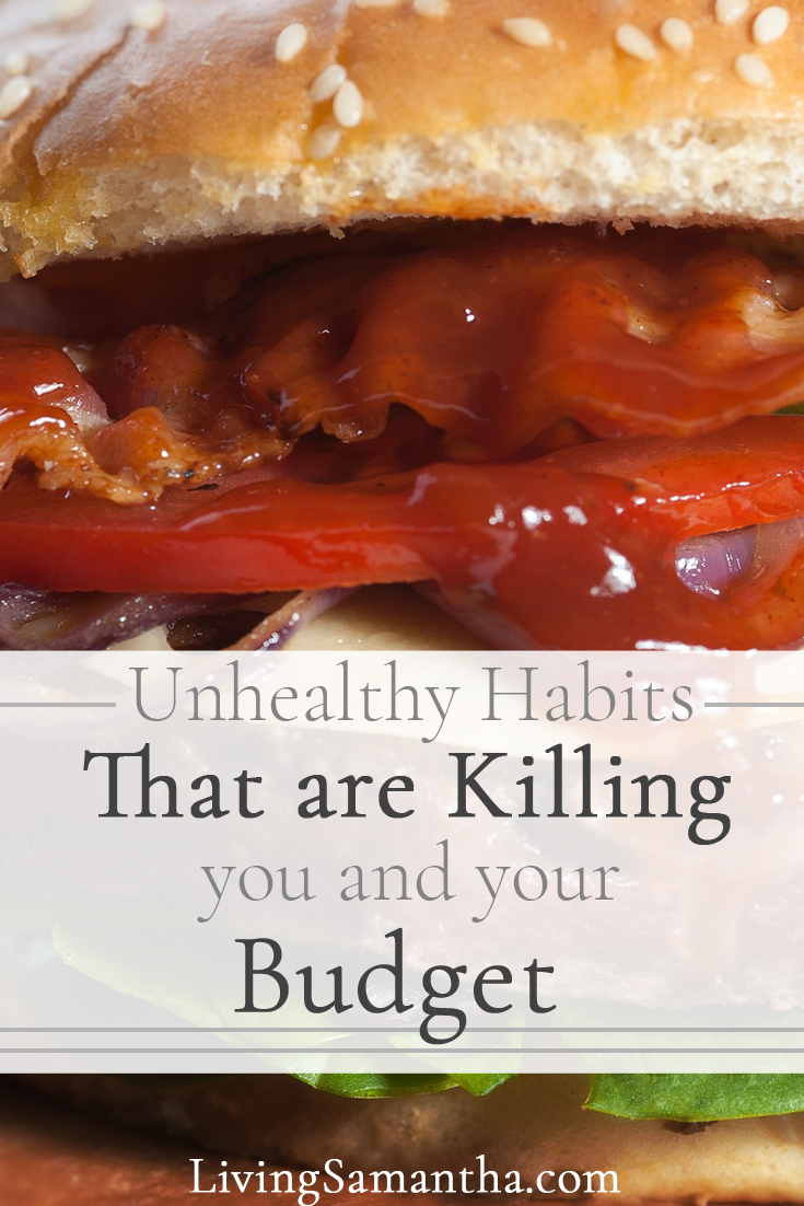 Stop these unhealthy habits that are killing you and your budget. See how much money you are wasting on these bad habits that harm your health.