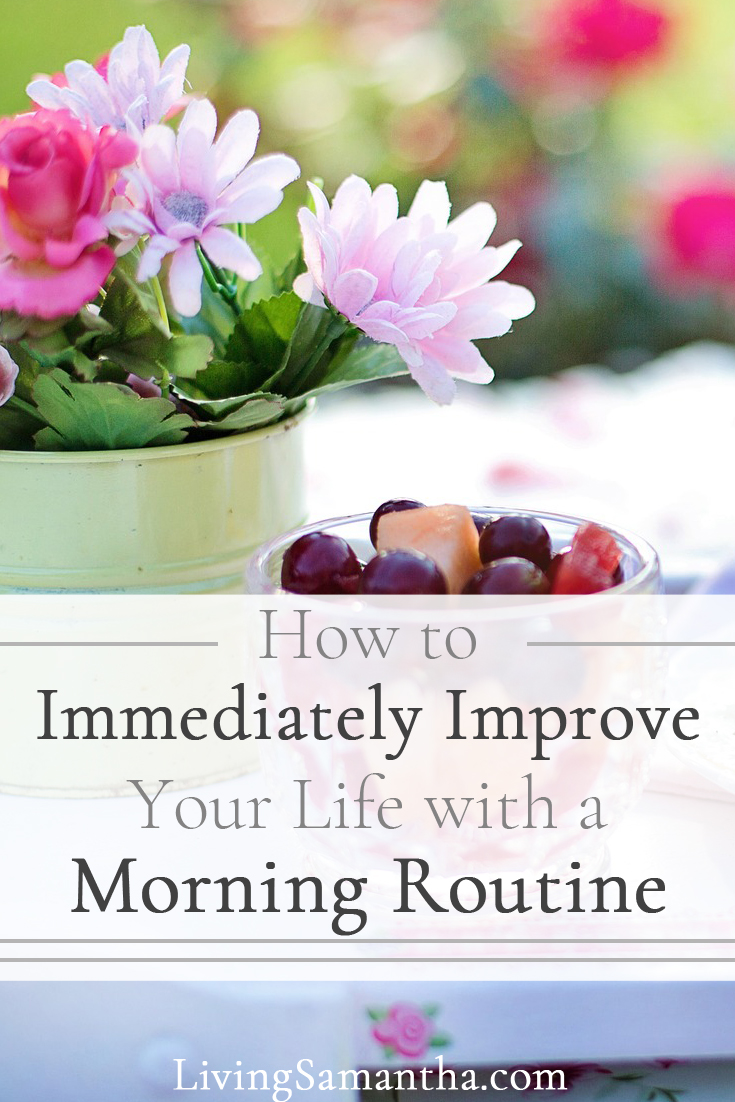 Learn how to prioritize yourself. Make yourself the priority in the mornings. Invest in your personal growth and it will immediately improve your life. Create a morning routine for yourself.