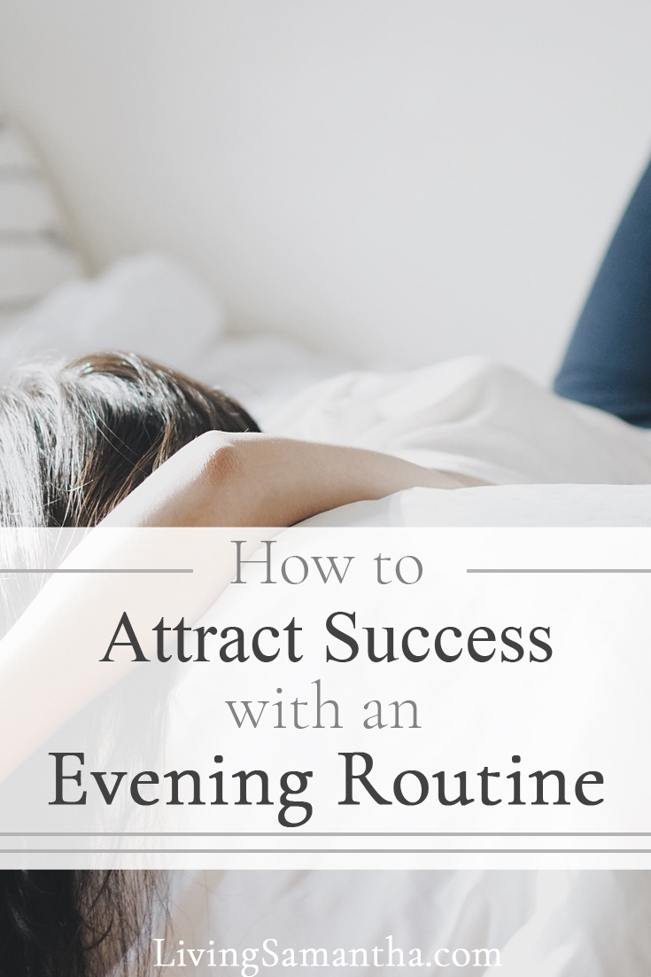 When your mornings are difficult and you wonder how to get up earlier for your morning routine. Set up a nightly routine with your successful, productive mornings in mind.