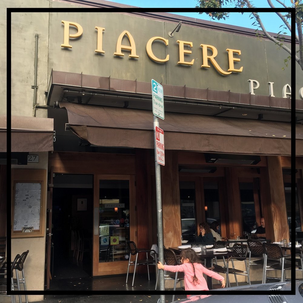 Piacere Restaurant    727 Laurel St. San Carlos, CA 94070
