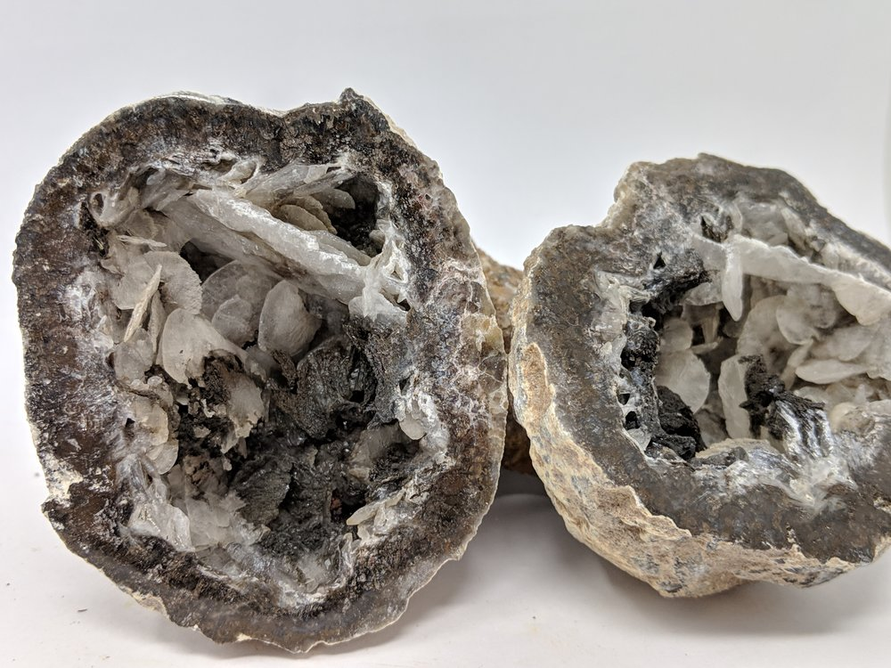 mexican coconut crystal geode