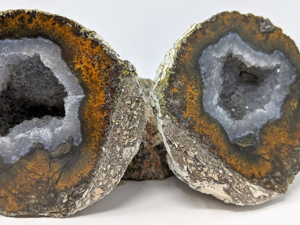 Mexican Coconut Crystal Geode Cut + Polished