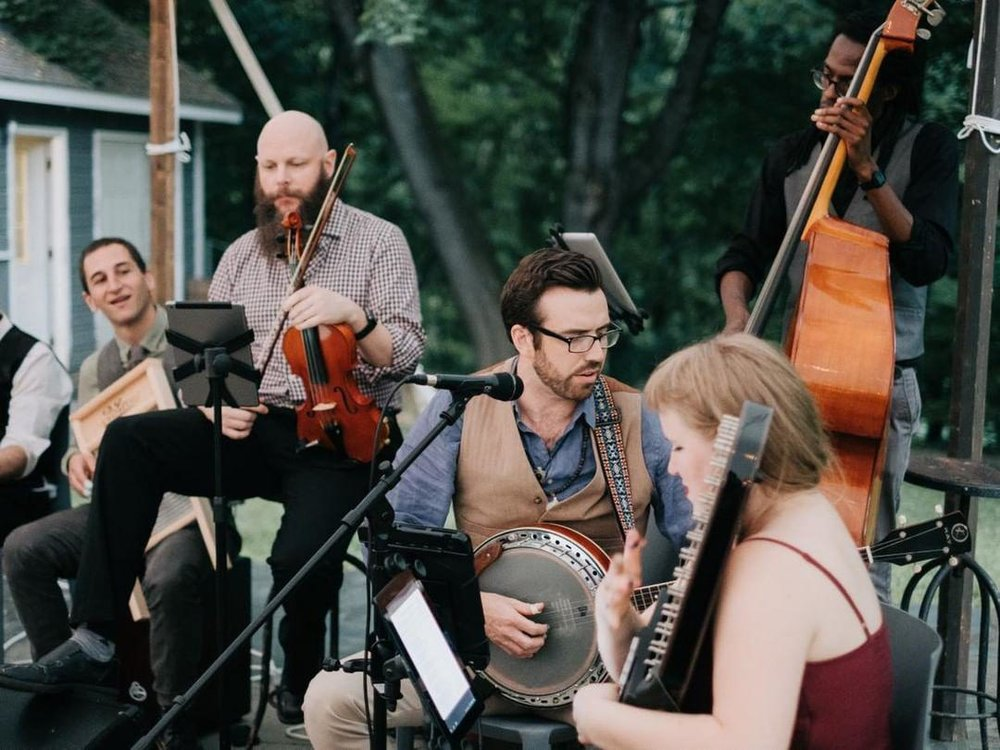 moonshine bluegrass  playing at  Hasbrouck House  in the Hudson Valley. Photo by Forged In The North -  https://www.forgedinthenorth.com/
