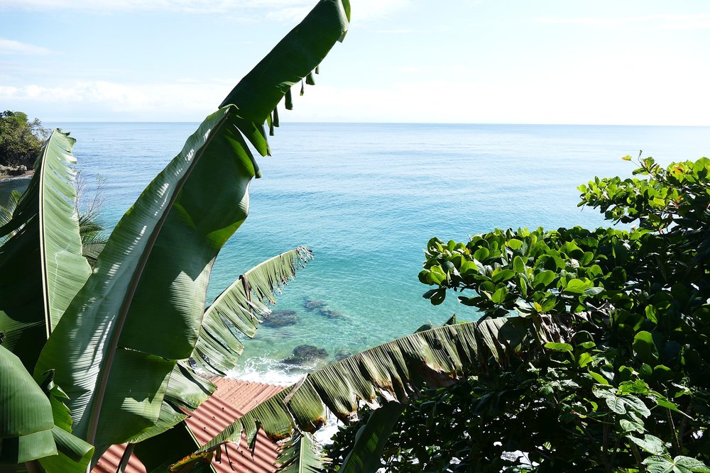 Vue de la terrasse du Tesoro Escondido, Bocas del Toro