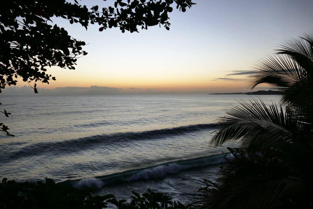 Lever du soleil au Tesoro Escondido, Bocas del Toro