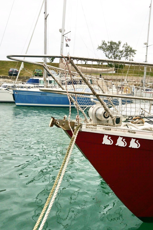 Détail dans le port de Saint-Martin