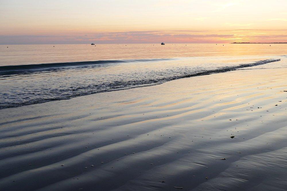 Coucher de soleil à La Couarde sur mer
