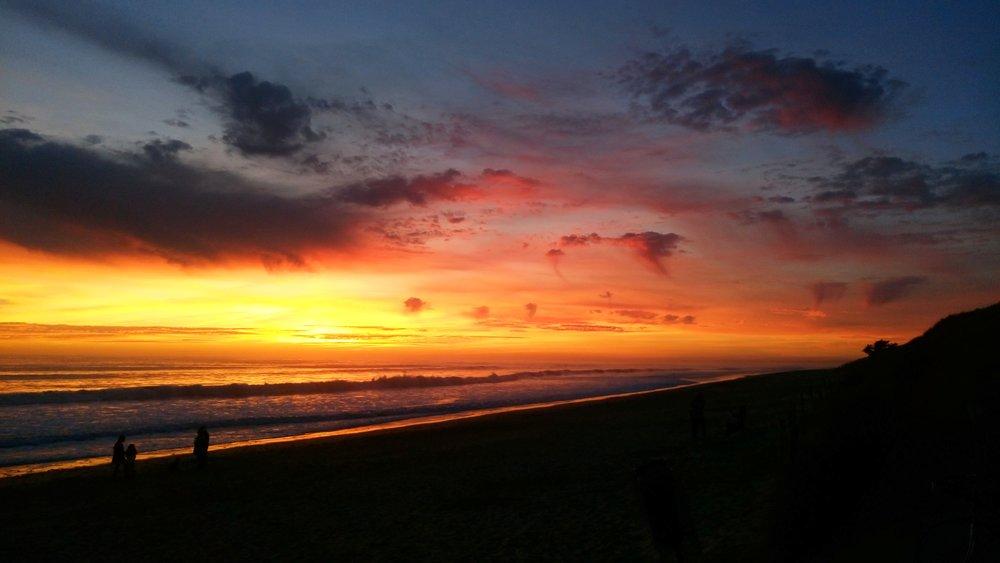 Incroyable coucher de soleil sur l'Ile de Ré