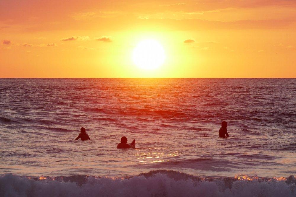 Sunset, Zicatela Beach, Puerto Escondido