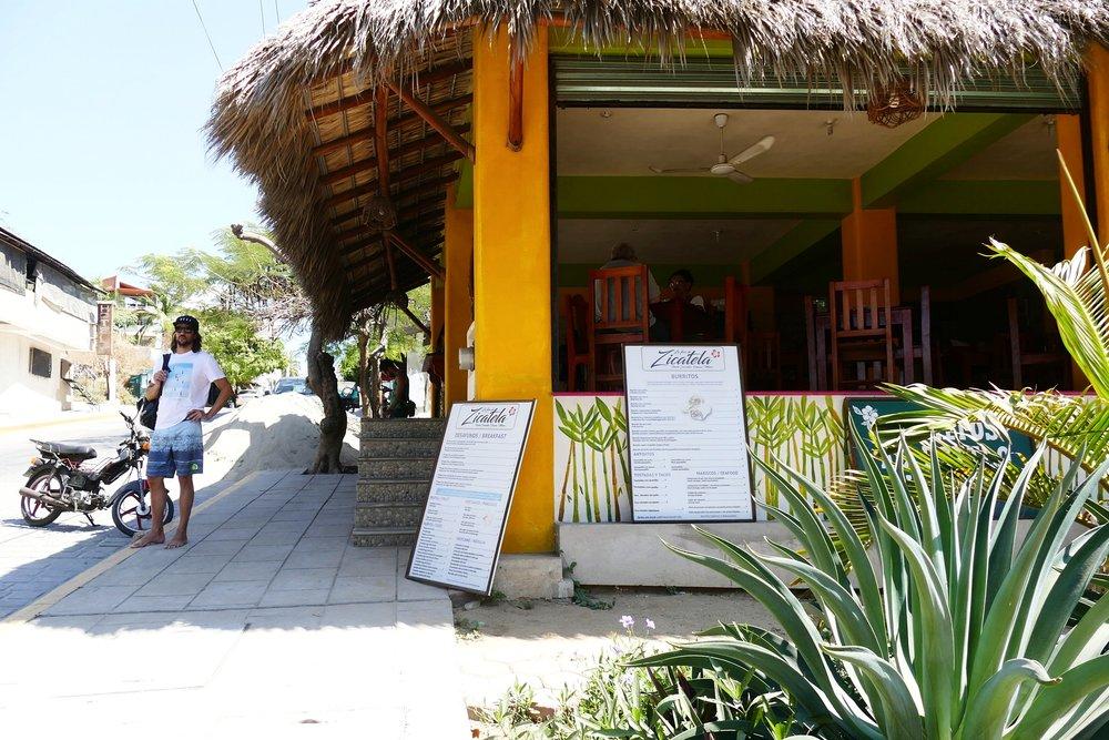 Restaurant Flor de Zicatela, Puerto Escondido, Mexique