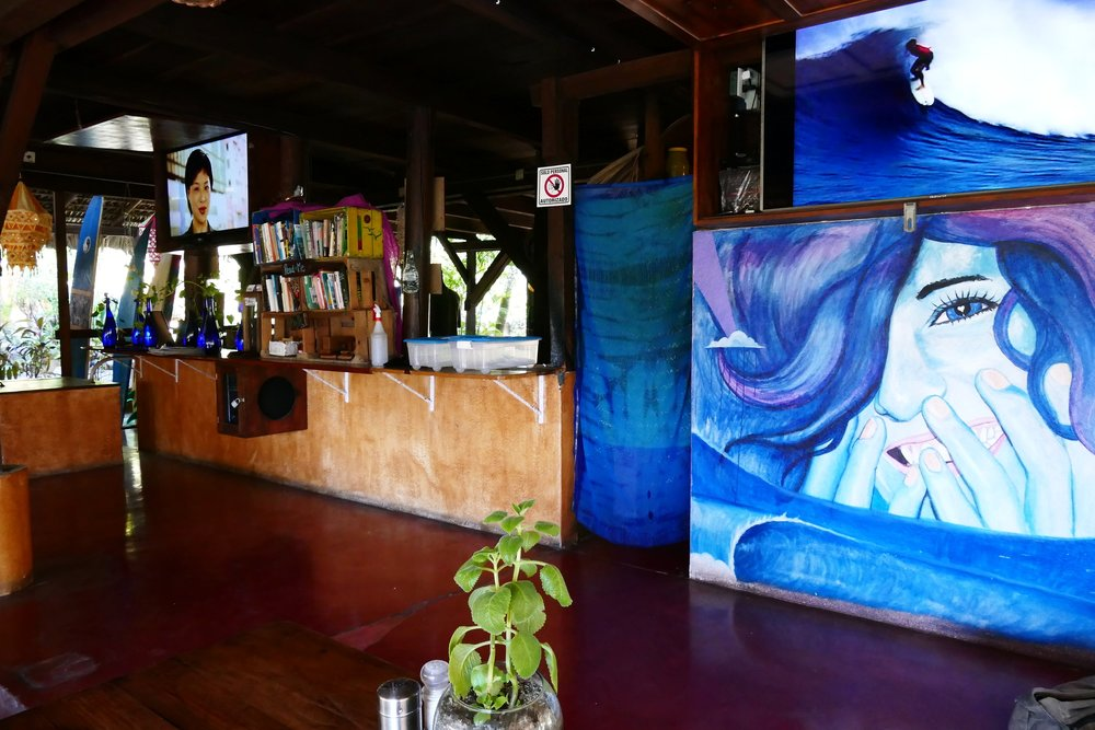 Restaurant Spirulina, Puerto Escondido, Mexique