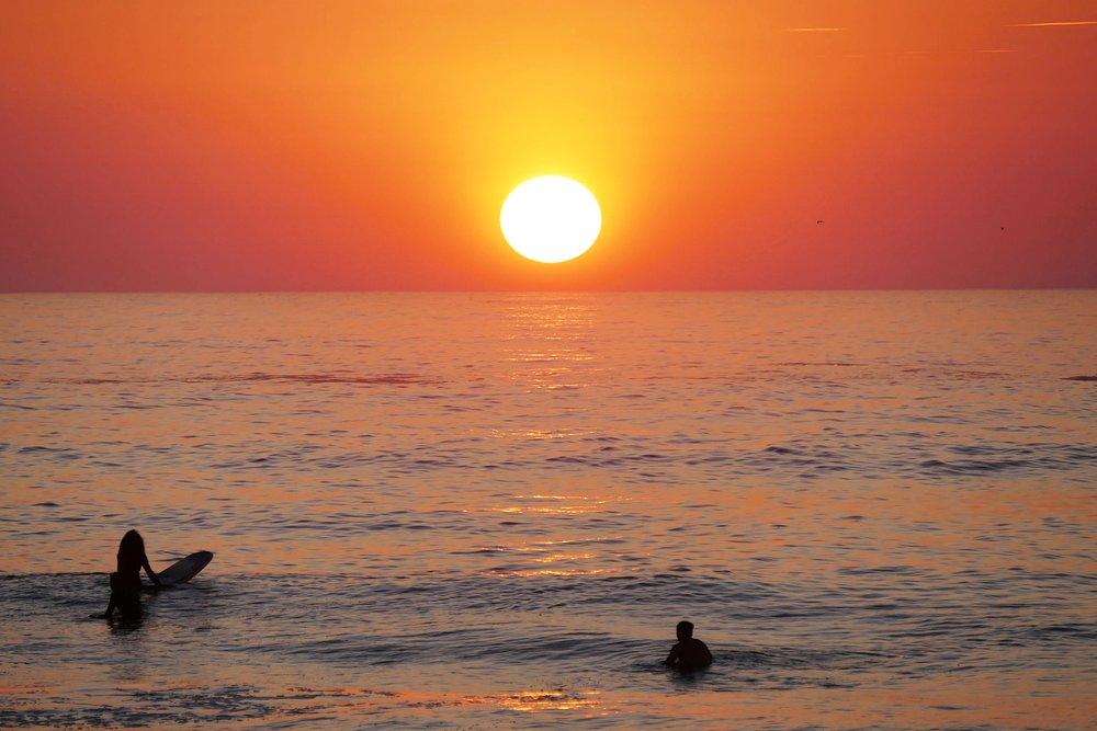 Coucher de soleil à La Punta, Puerto Escondido, Mexique