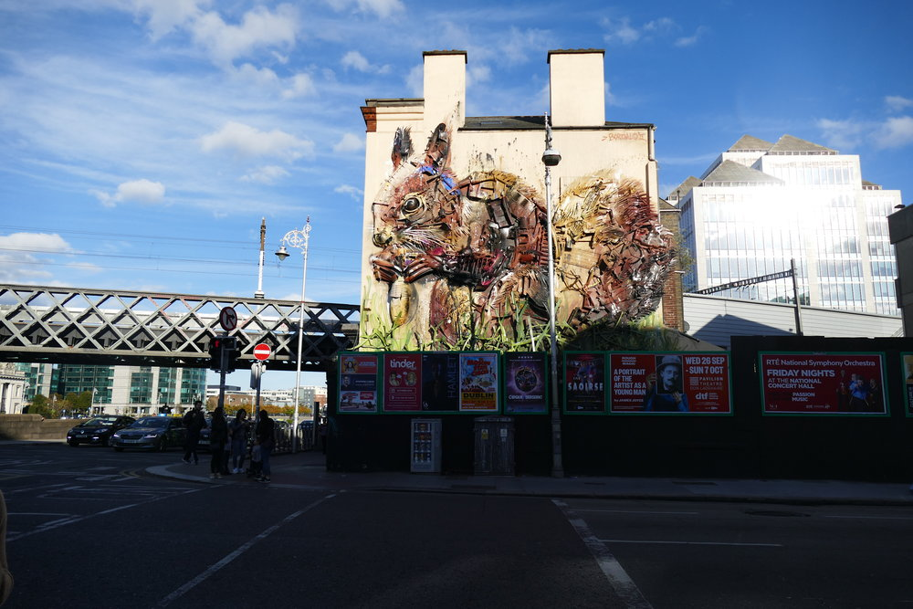Street Art - Tara Street, Dublin