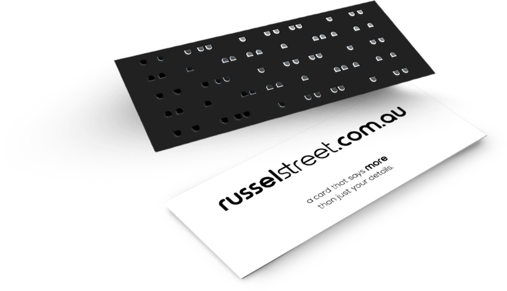 Silver Foil Business Cards - Slim — russel street