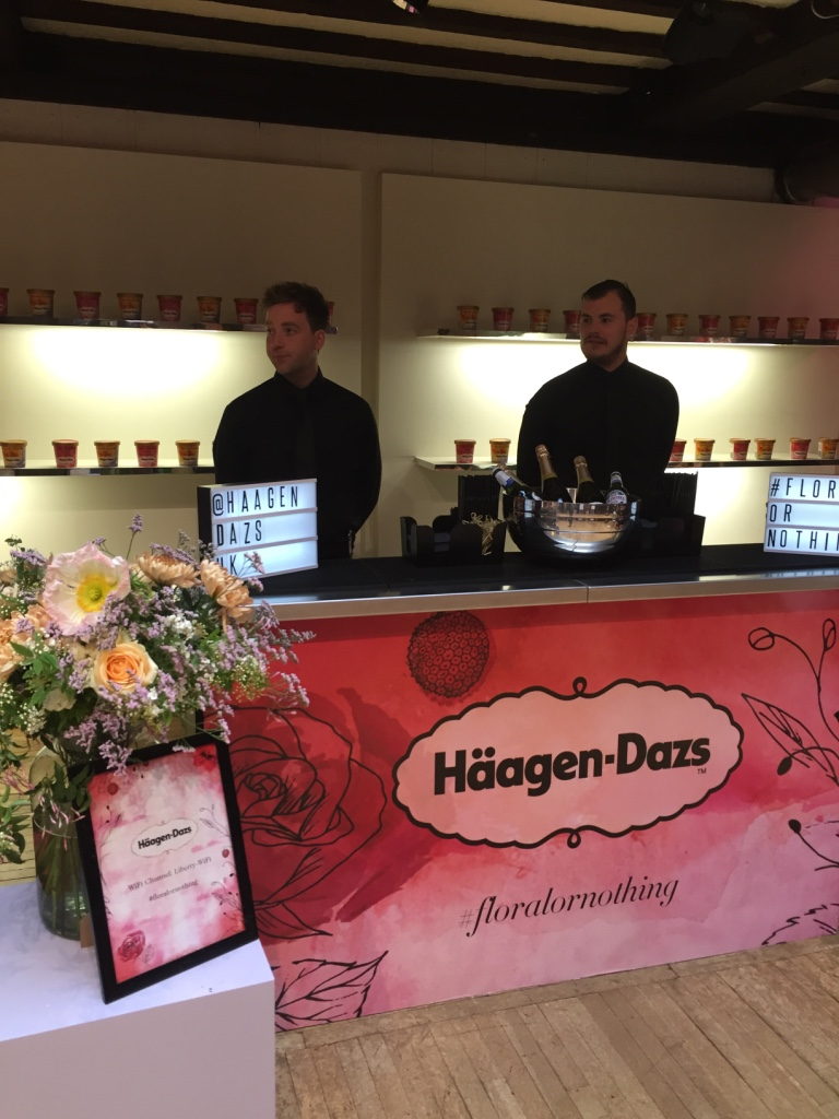 Flowers for  Häagen-Dazs  event at  Liberty, London