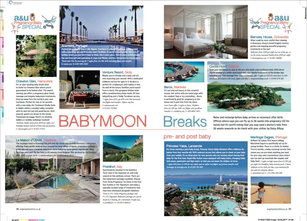 Babymoon Breaks. angels & urchins magazine, summer 2017