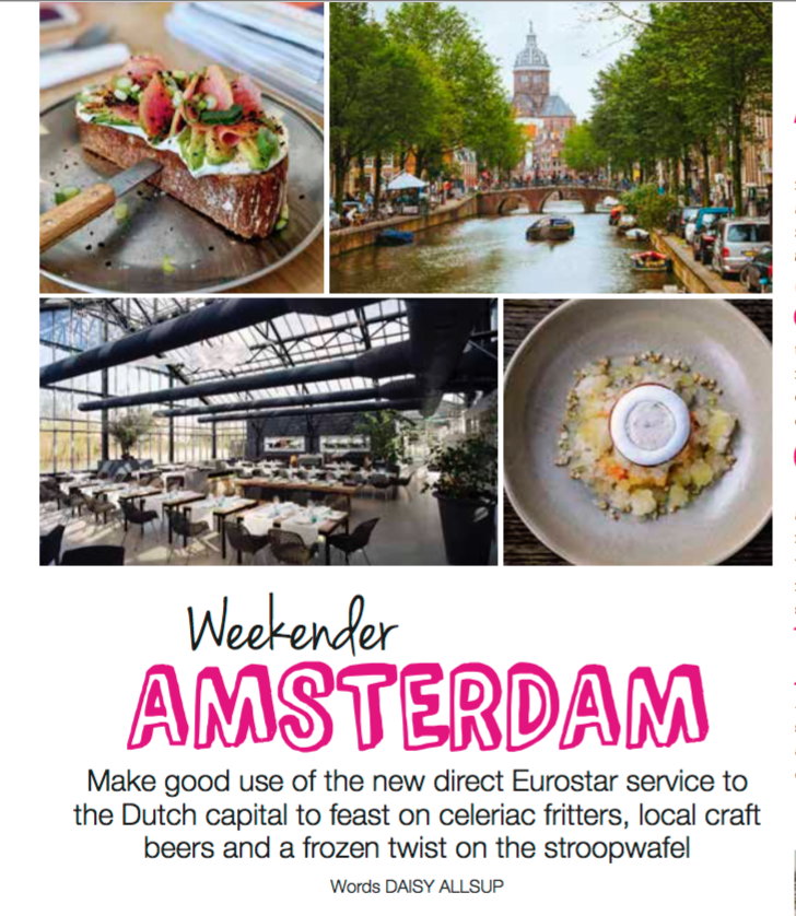 Weekender Amsterdam,  Olive magazine , eco issue June 2018