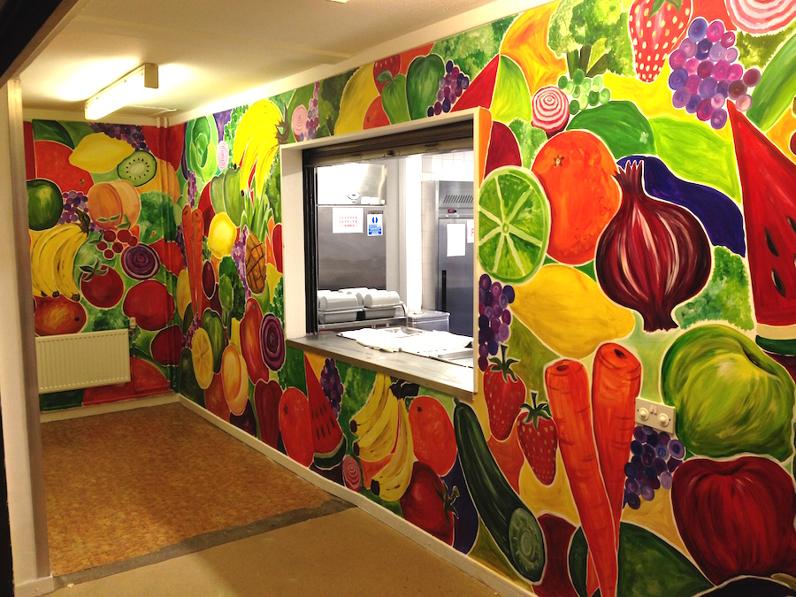 Healthy Eating School Mural