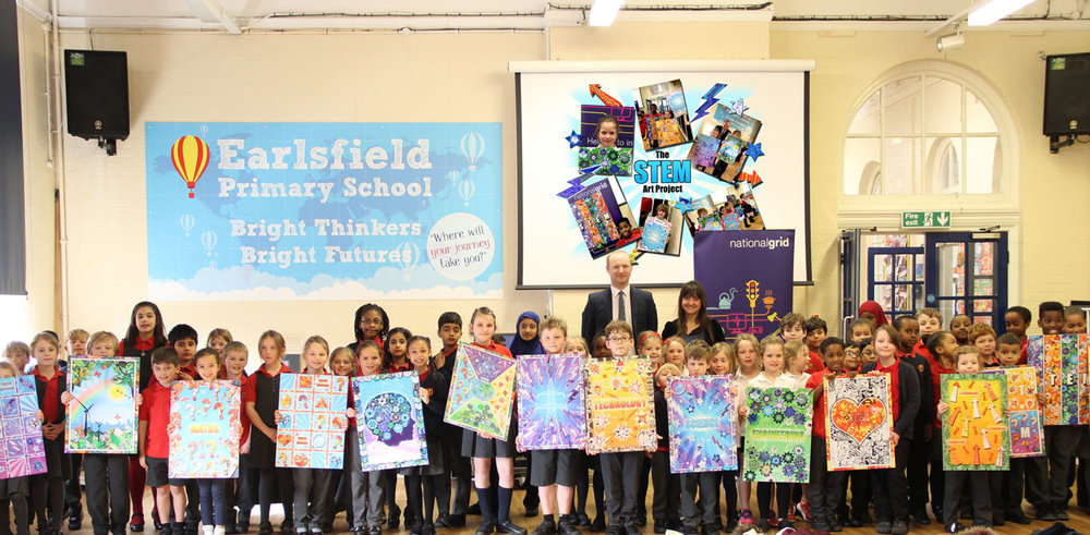 The STEM art project with The National Grid