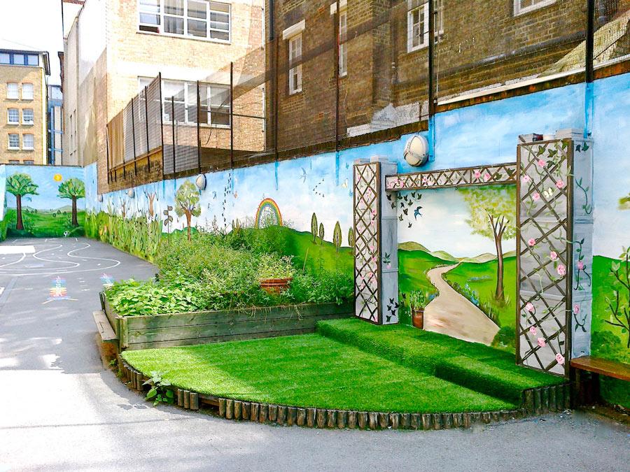 School Playground Mural