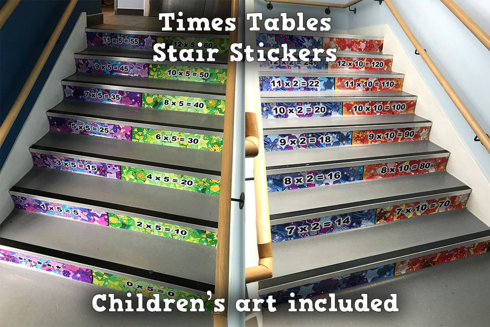 Times Tables Stair Stickers