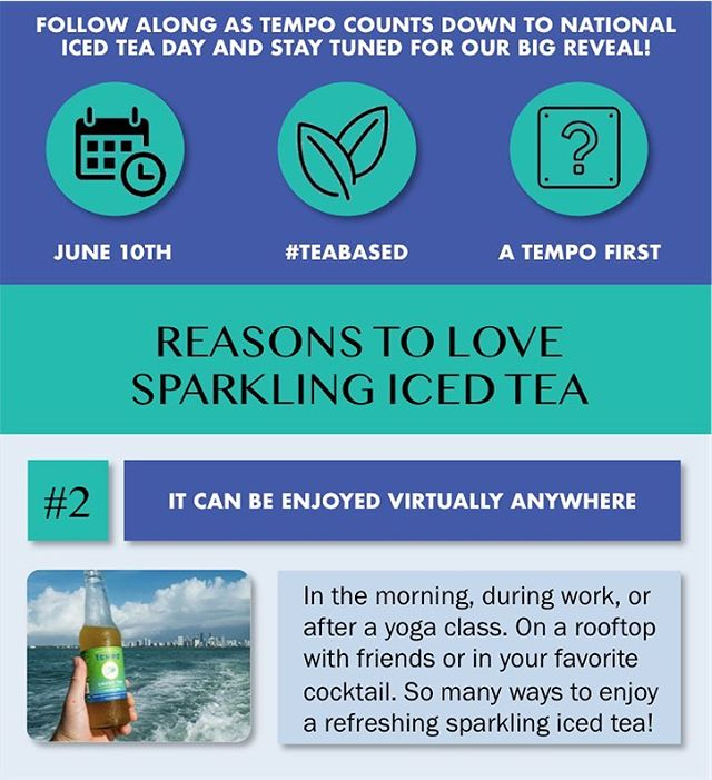 Reason #2 for loving Sparkling Iced Tea: it can be enjoyed virtually anywhere! #nationalicedteaday