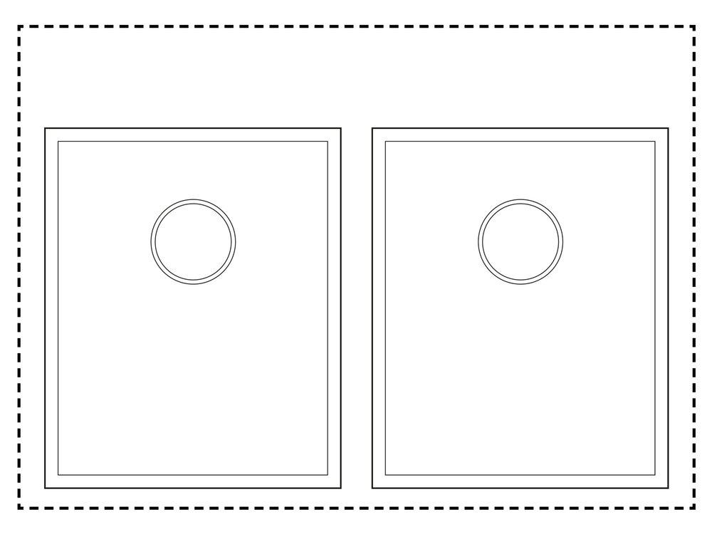800mm Cabinet Sink Combination - Twin sink combinationSink (L/R): TS425