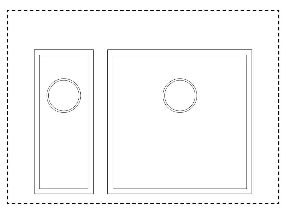 600mm Cabinet Sink Combination - 1.5 sink combinationHalf Sink: TS175Sink: TS425