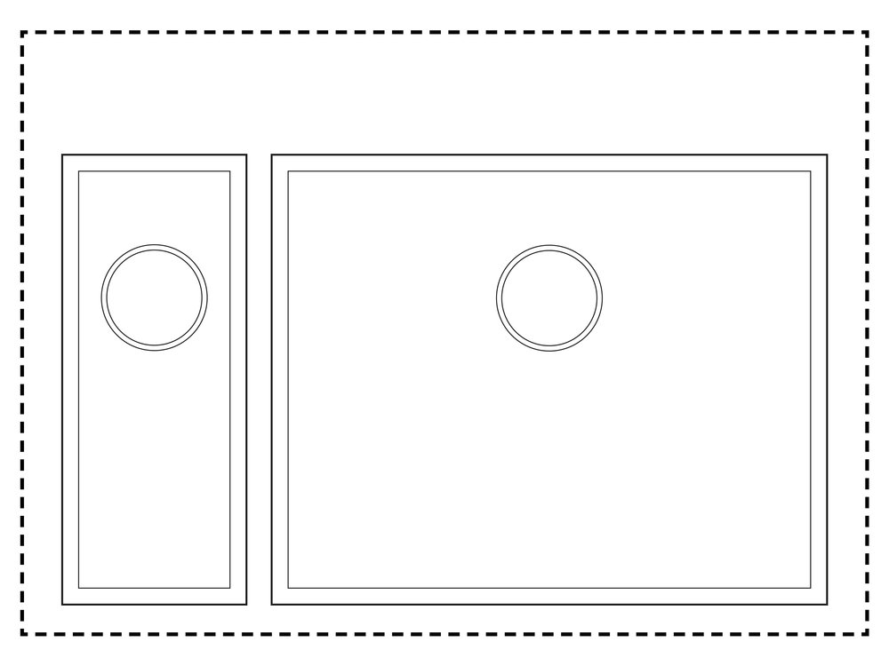 800mm Cabinet Sink Combination - 1.5 sink combinationHalf Sink: TS175Sink: TS525