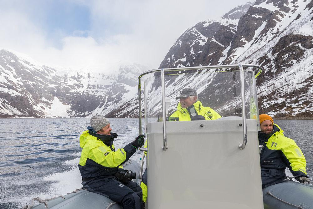 UTFORSK ØKSFJORDJØKULEN OG OPPLEV FANTASTISK NATUR MED RIB - Ønsker du å bli med og utforske fjordene i Finnmark og Nord-Troms, og få et glimt av den majestetiske Øksfjordjøkulen? Bli med oss på tur!