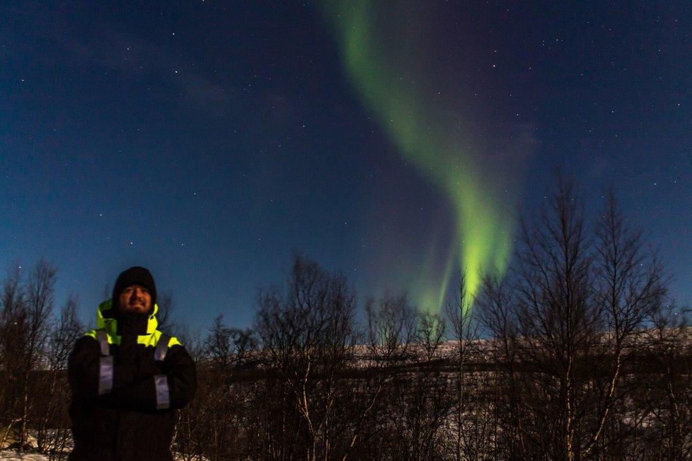 Hunting the Aurora 02.11.2017. Photo: Hans-Petter @nordekspedisjon