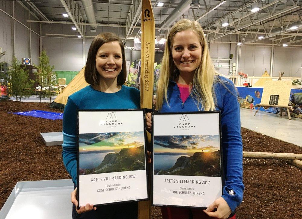 """For prosjektet """"52 overnattinger på 52 uker"""" vant de prisen Årets Villmarking 2017. Foto:Camp Villmark"""