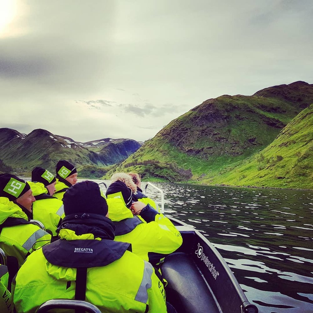 EXPLORE SEILAND NATIONAL PARK - Seiland is a magnificent island far out in the Altafjord. The island is very lush and green, han has a great Wildlife. We go ashore and take a walk along the beautiful Milkyriver. Lunch and hot drinks included. A visit here is definitely recommended.