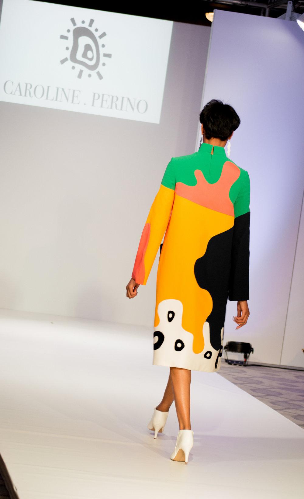 Designer:  Caroline Perino  Model:  Natalie Nwagbo
