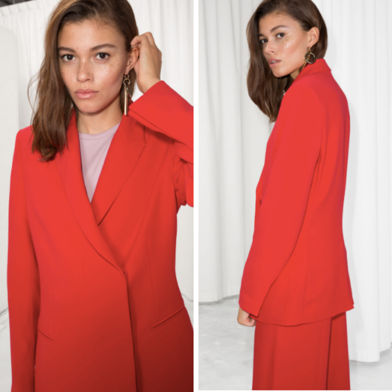 2. & other stories - Red Straight fit Blazer