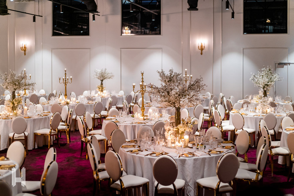 - With a design that is functional yet regal, over 5 metre high ceilings, large 24k gold chandelier, abundant natural light and a covered garden terrace, the Ruby ballroom works beautifully for more intimate-sized corporate functions and events, conferences, weddings, award nights, gala dinners, product launches and private celebrations.