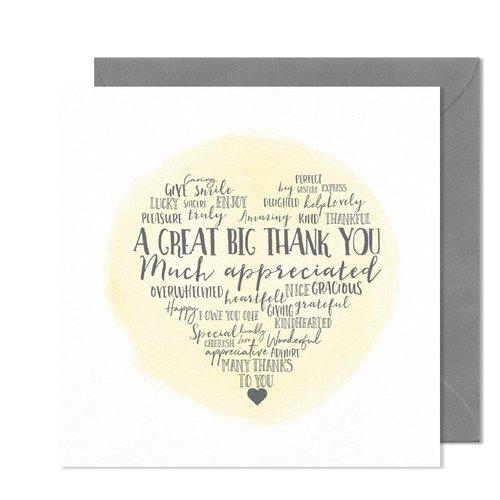 Little Paperie Heartfelt Thank You Card Little Paperie