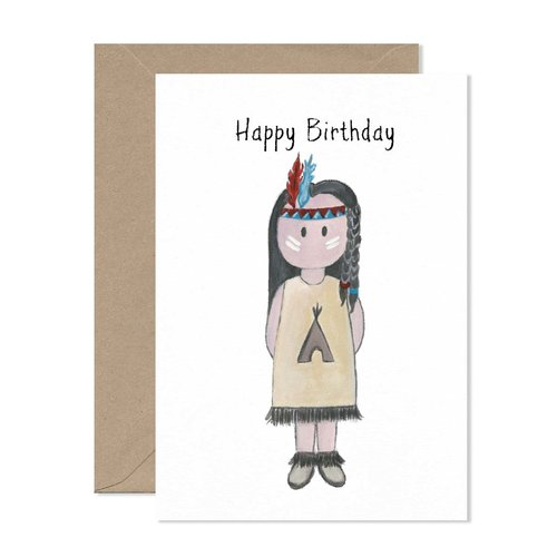 Little Paperie Little Peeps Indian Birthday Card Little Paperie