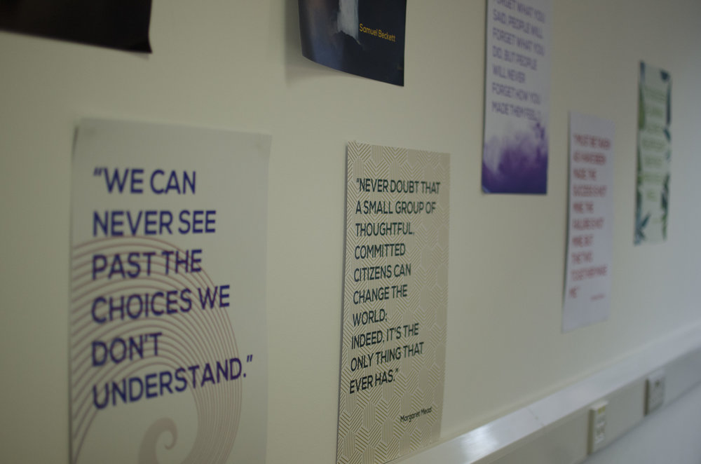 The NevaLabs Inspiration Wall in our Dublin Headquarters