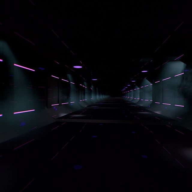 Working on a little #vaporwave space hallway.  #cinema4d #c4d #motiondesign #3d